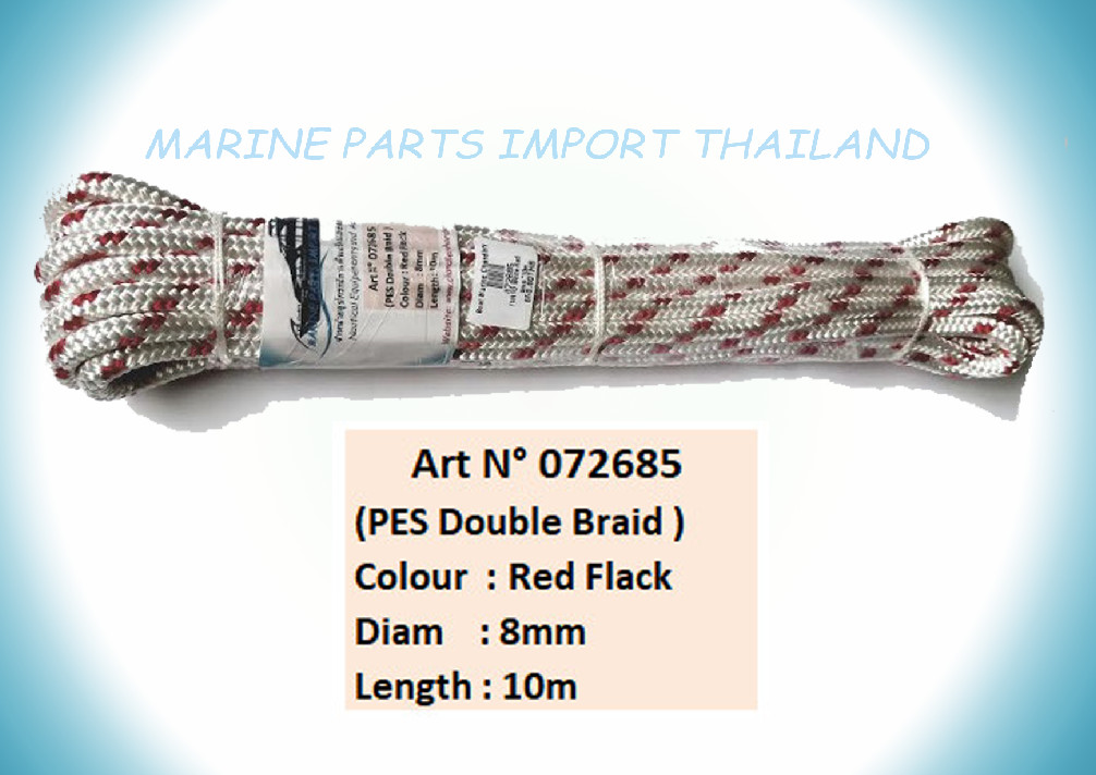 YACHTING White/Red 8mm/10m