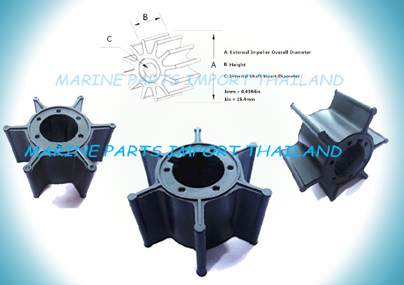 IMPELLER YAMAHA 6/8/15HP - MERCURY 8A/8B