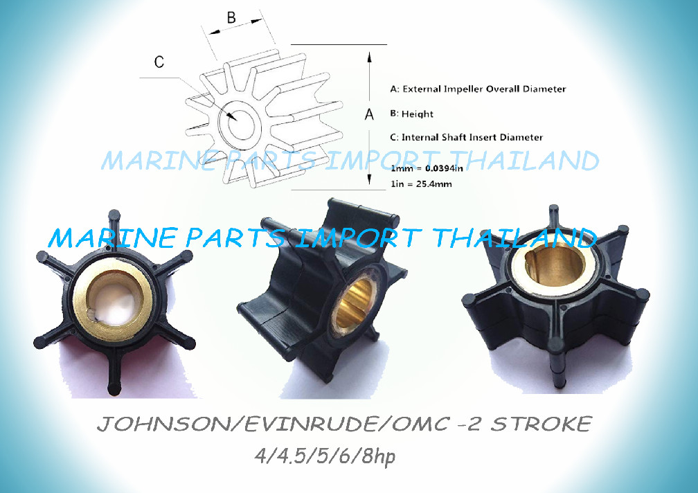 REPLACEMENT IMPELLER SELVA 2-STROKE 25 30 35HP OUTBOARD ENGINE