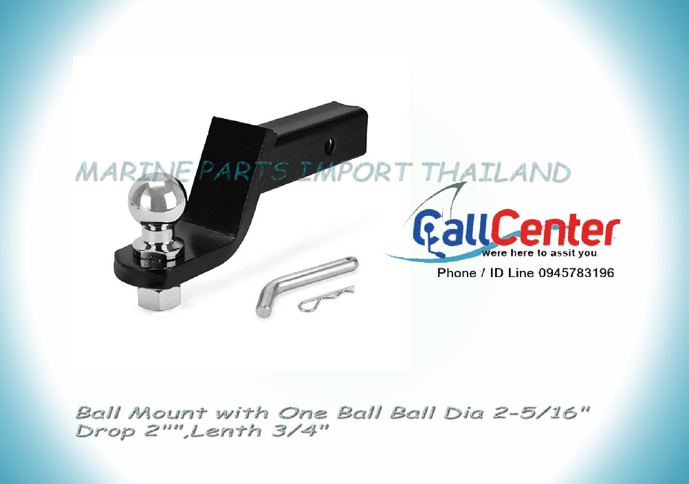 Ball Mount with One Ball Ball Dia 2-5/16 Drop 2