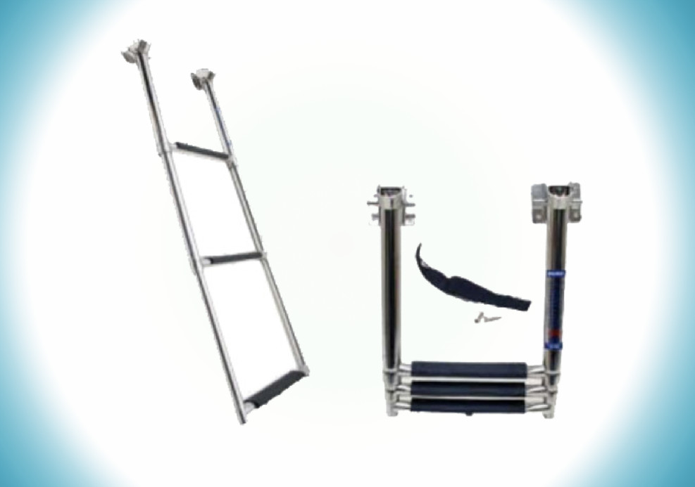 316 Stainless Steel 3-step Telescopic Boat Ladder