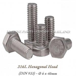 Hexagonal20Head20316L206x40mm202820Pack20of202202920 0POS