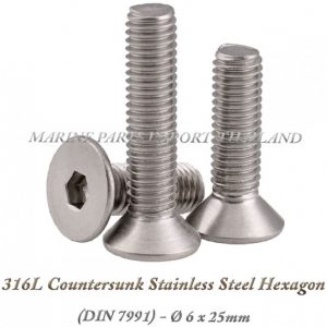 316L20Countersunk20Stainless20Steel20Hexagon206X25mm202820Pack20of202202920 0POS