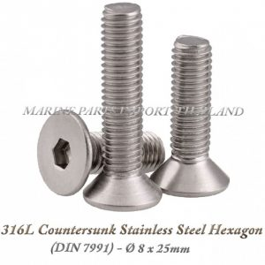 316L20Countersunk20Stainless20Steel20Hexagon208X25mm202820Pack20of202202920 0POS