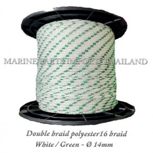 TURBO20Double20braid20Polyester20rope201620braid 208mm White20Green2014mm 0pos