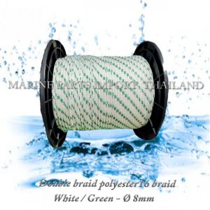 TURBO20Double20braid20Polyester20rope201620braid 208mm White20Green208mm 00pos