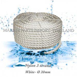 Nylon20320strand2020mm WHite20 00pos